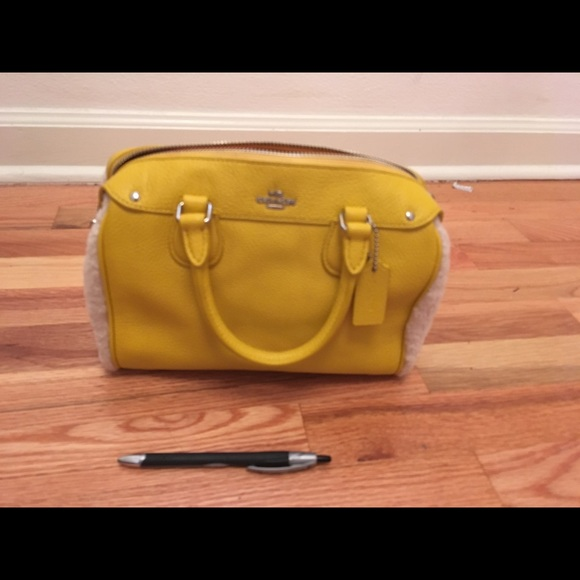 fa63e0716a Coach Bags | Mustard Yellow Leather Handbag Crossbody | Poshmark